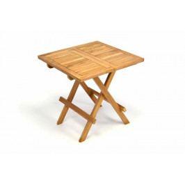 Záhradný drevený skladací stolík DIVERO výška 50 cm