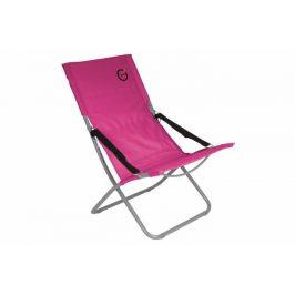 Skladacia kempingová stolička - ružová
