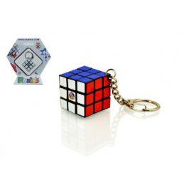 Rubikova kostka hlavolam přívěšek plast 3x3x3cm na kartě