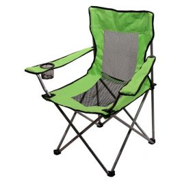 CATTARA Kempingová skladacie stoličky zelená s držákem na pití NET max 110kg, 2,1 kg
