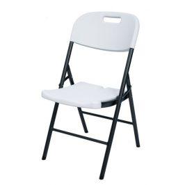 Cateringová skladacia stolička - 87 x 53 x 46 cm, biela
