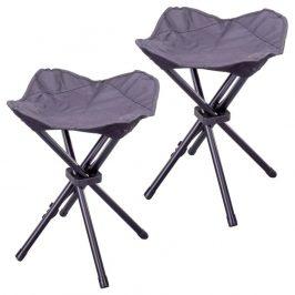 Kempingová stolička trojnožka - 2 kusy