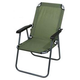 Kempingová skladacia stolička LYON - tmavozelená