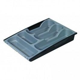 Plastový příborník - šedo/černý CURVER