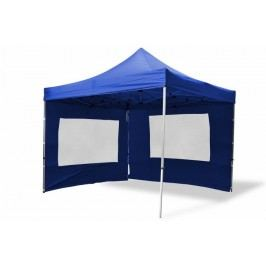 Záhradný párty stan nožnicový PROFI 3x3 m modrý + 2 bočné steny
