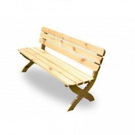 Záhradná drevenná lavica STRONG prírodná FSC
