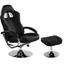 Kancelárska stolička GT RELAX SERIES - čierna/chróm
