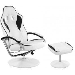 Kancelárska stolička GT RELAX SERIES - biela/čierna