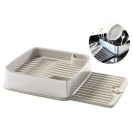 Odkapávač nádobí STYLE SQR vysunovací - krémový CURVER