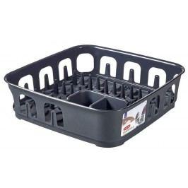 Odkapávač nádobí ESSENTIALS čtverec - tm.šedý CURVER