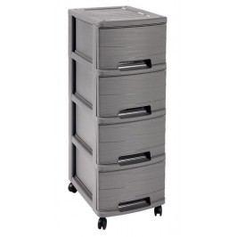 CURVER RIBBON skrinka 4 boxy, 26,4 x 67,5 x 35,1 cm, šedá, 00748-T37