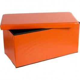 Skladacia lavica s úložným priestorom - oranžová