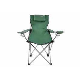 Skladacia kempingová stolička DIVERO s vankúšikom – zelená