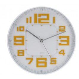 Nástěnné hodiny skleněné RELIÉF 30 cm - ORANŽOVÁ