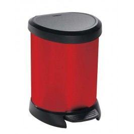Odpadkový kôš pedálový DECOBIN 5l červený CURVER