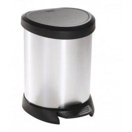 Odpadkový kôš pedálový DECOBIN 5l strieborný CURVER