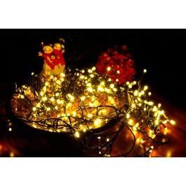 Vianočné LED osvetlenie 10 m - teplá biela, 100 LED s časovačom
