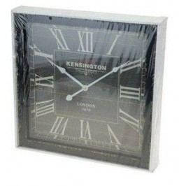 Dřevěné nástěnné hodiny 40 x 40 cm - ČERNÁ