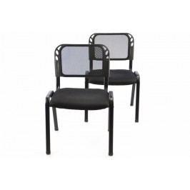 Sada stohovateľné kongresové stoličky 2 kusy - čierna