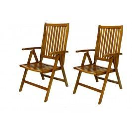 Diver skladacie stoličky z agátového dreva, 2 ks