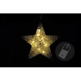 Vianočná dekorácia - vianočná hviezda - 25 cm, 10 LED diód