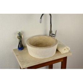 Umývadlo z prírodného kameňa krémovej