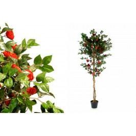 Umelá kvetina - Kamélie červená 200 cm