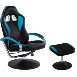 Kancelárska stolička GT RELAX SERIES - čierna/sv. modrá