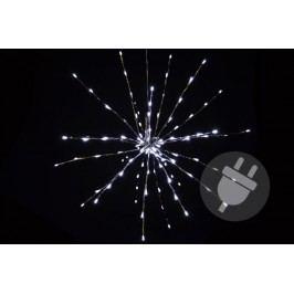 Vianočné osvetlenie - meteorický dážď - studená biela, 120 LED, 60 cm