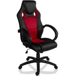 Otočná kancelárska stolička červená GS Series