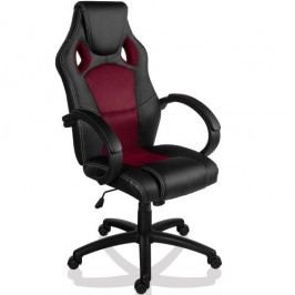 Otočná kancelárska stolička GS Series vínová červená