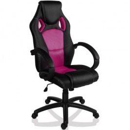Otočná kancelárska stolička ružová GS Series