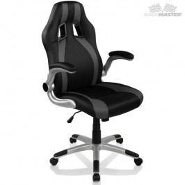 Kancelárska stolička GT-Series Stripes - čierna/sivá