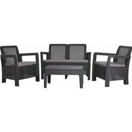 TARIFA lounge set antracit + sivé podušky