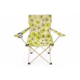 Sada 2 x skladacia stolička béžová - kvetinový vzor