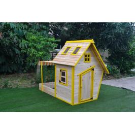 Drevený domček Flinky s pieskoviskom