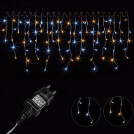 Vianočný svetelný dážď 400 LED teple/studeno biela - 10 m