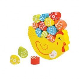 Lelin Balancujúca sliepka/ drevené hračky