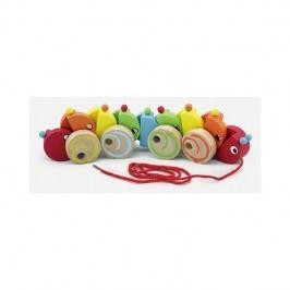 Viga Húsenica na šnúrke / drevené hračky