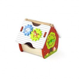 Viga Farma s aktivitami- triedič tvarov / drevené hračky