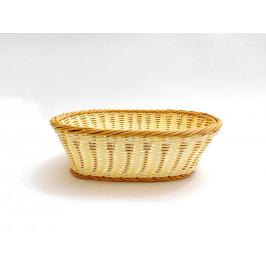 Košík pletený oválny stredný p