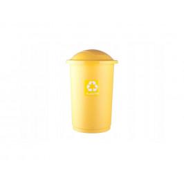 Kôš na recykláciu odpadu 50l žltý