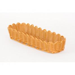Košík pletený úzky ovál