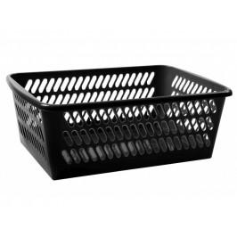 Košík umelá hmota čierny 30,5x20x11cm
