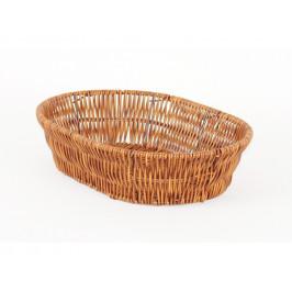 Košík pletený ovál malý Wood