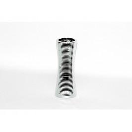 Váza pásikovaná strieborná