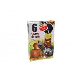 Sviečky čaj.6ks ópium