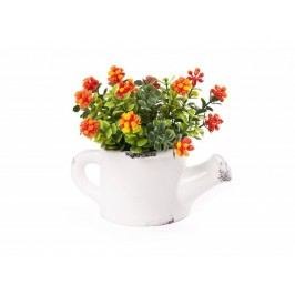 Kvet umelý v ker. krhličke mix
