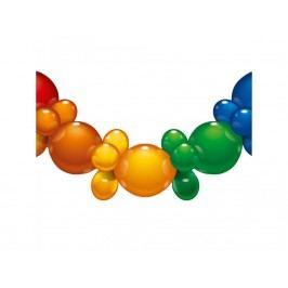 Balóniky 25ks- 175cm reťaz mix