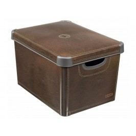 Box, umelá hmota, hnedý